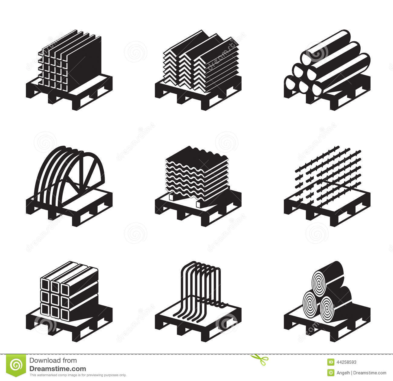 Metal Building Materials Stock Vector Image Of Home