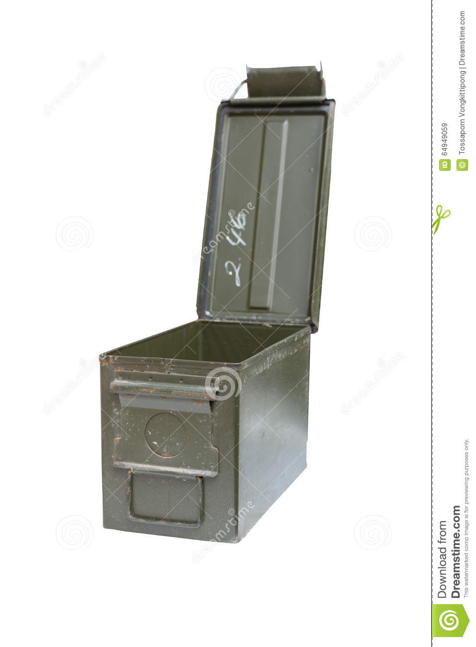 Metal bullet box stock image  Image of background, crime - 64949059