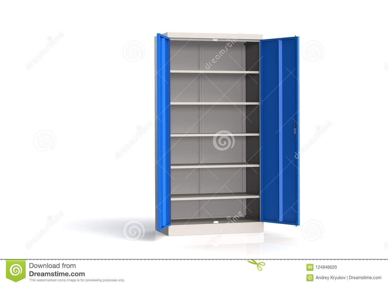Metal Cabinet With Shelves For Tools Fireproof Shelving For