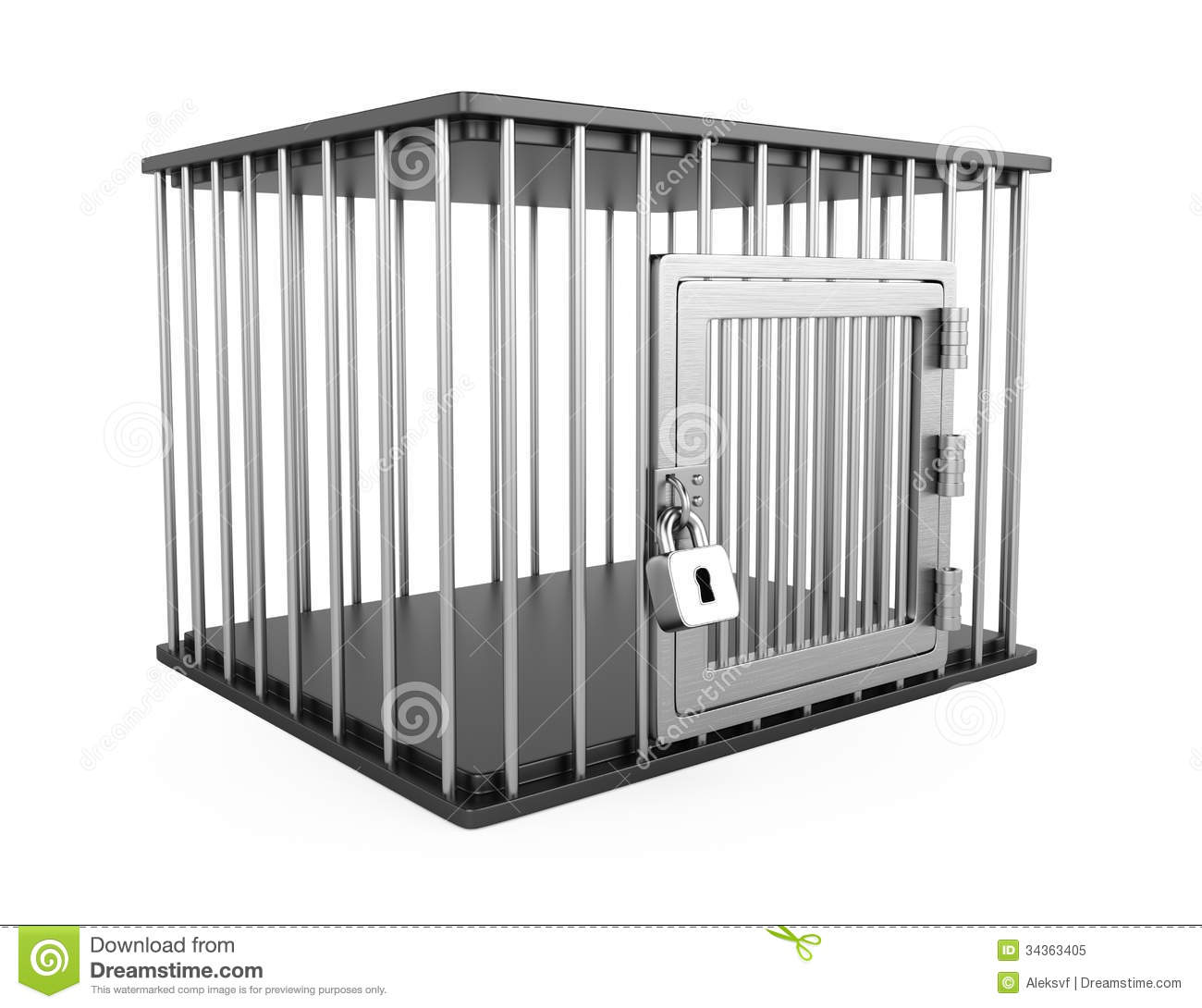Metal Cage Stock Illustration Illustration Of Object