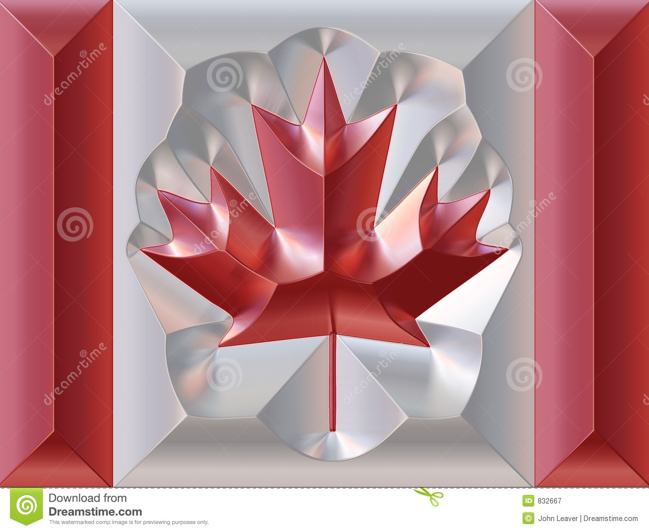 metal canadian flag royalty free stock photography image 832667