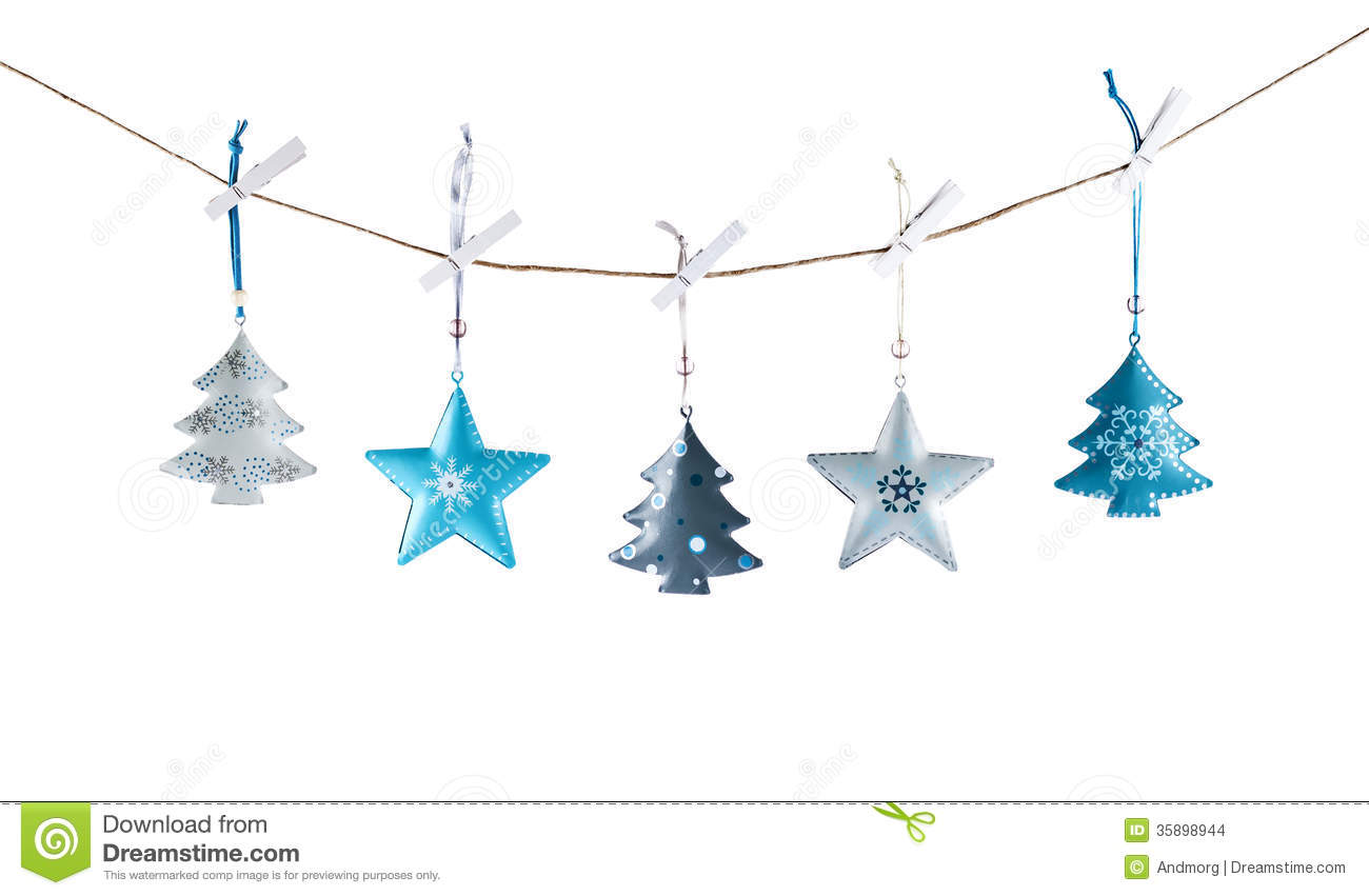 download metal christmas decorations stock photo image of copy blue 35898944 - Metal Christmas Decorations