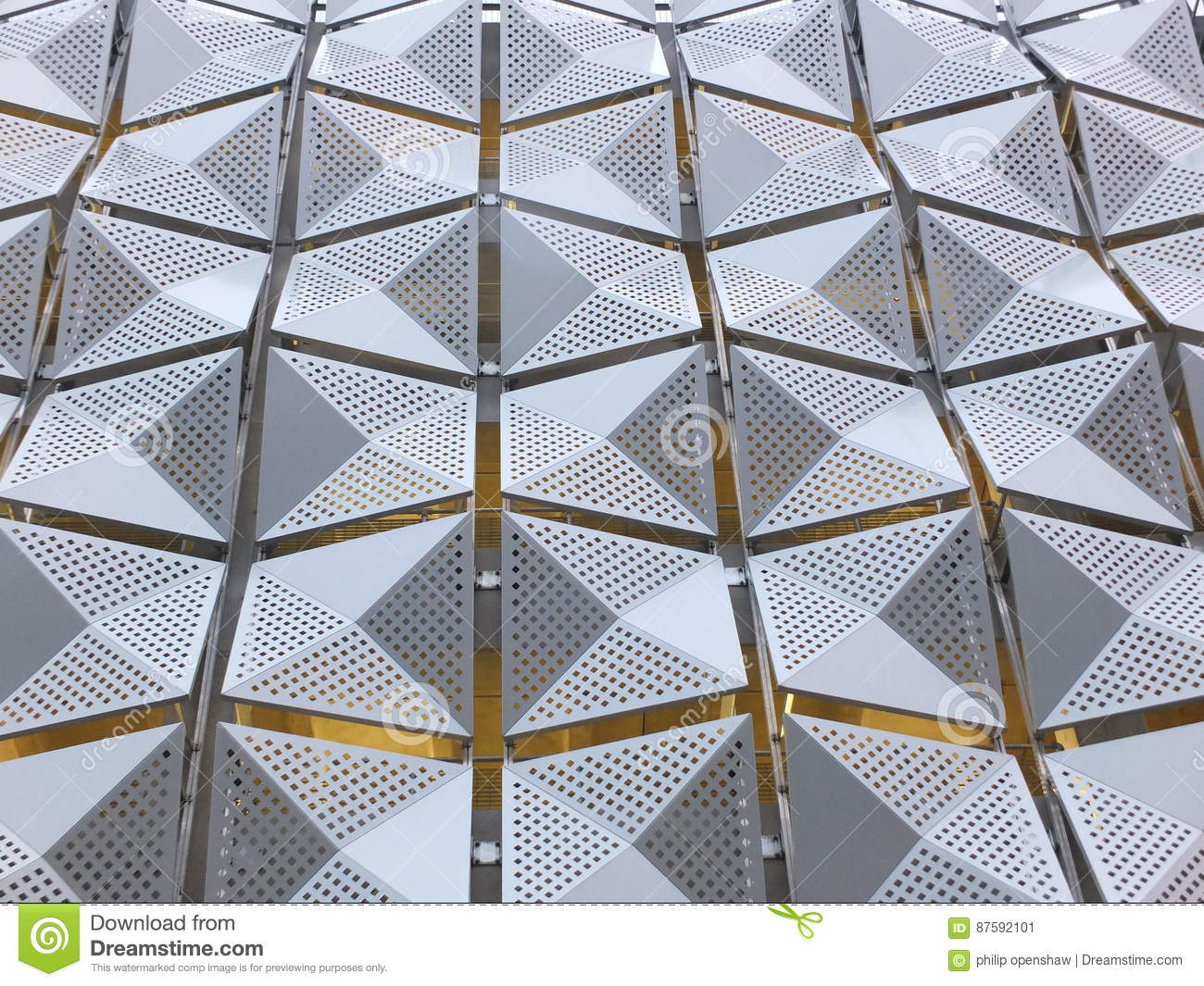 Metal Cladding on building stock image  Image of exterior