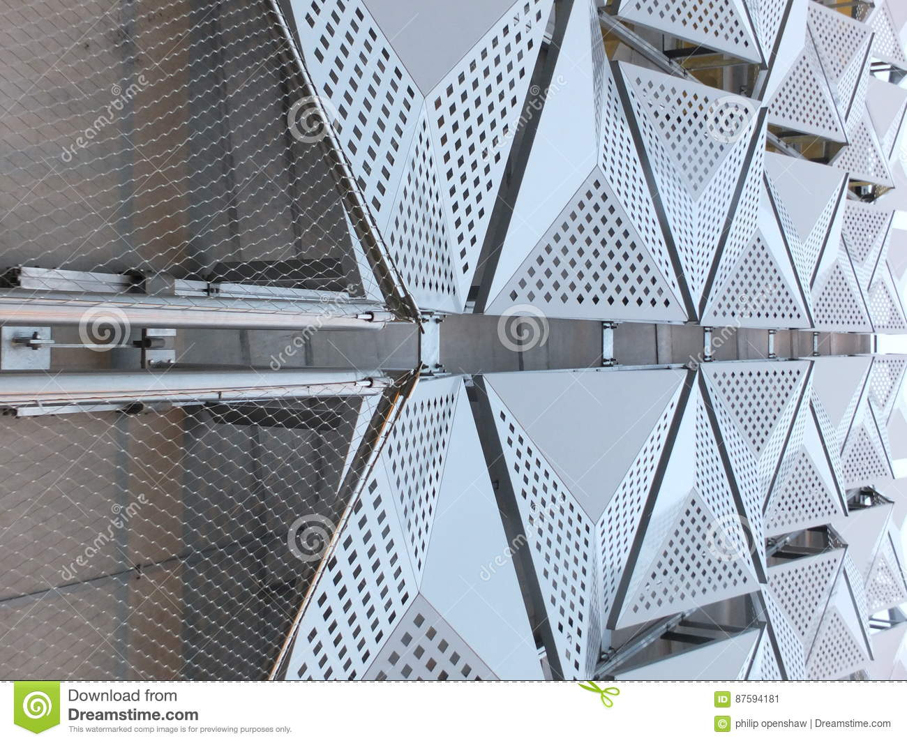Metal Cladding on building stock image  Image of facade