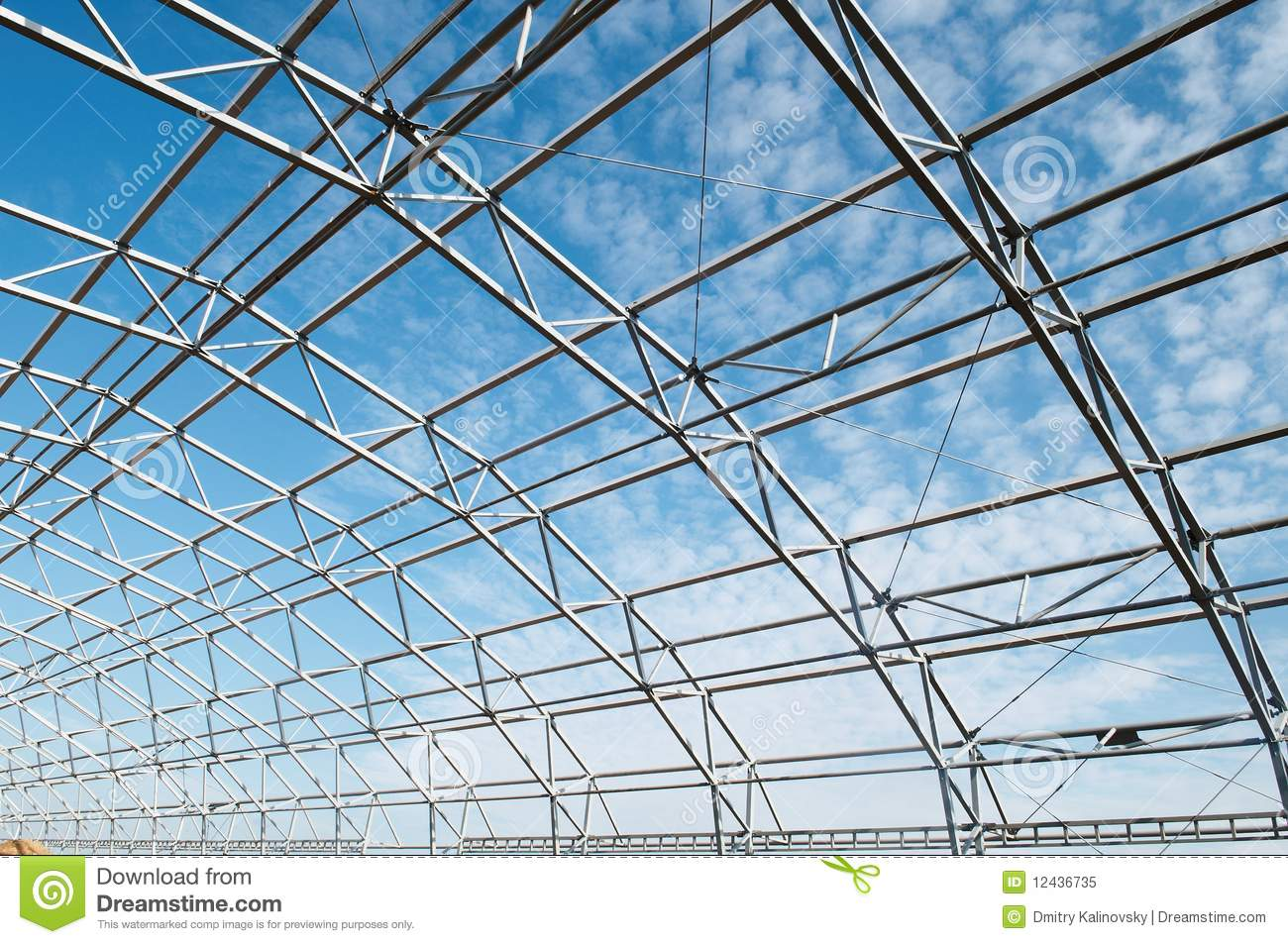 Metal Construction Framework Stock Image Image Of