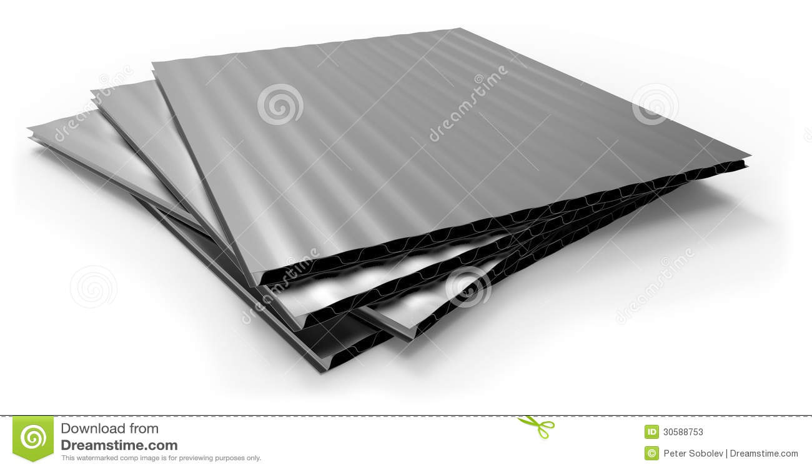 Metal Corrugated Sandwich Panel Stock Photos Image 30588753