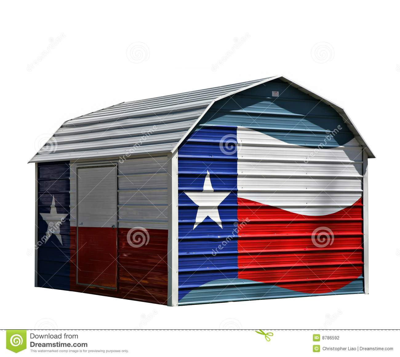 Metal Corrugated Storage Shed Stock Photography Image