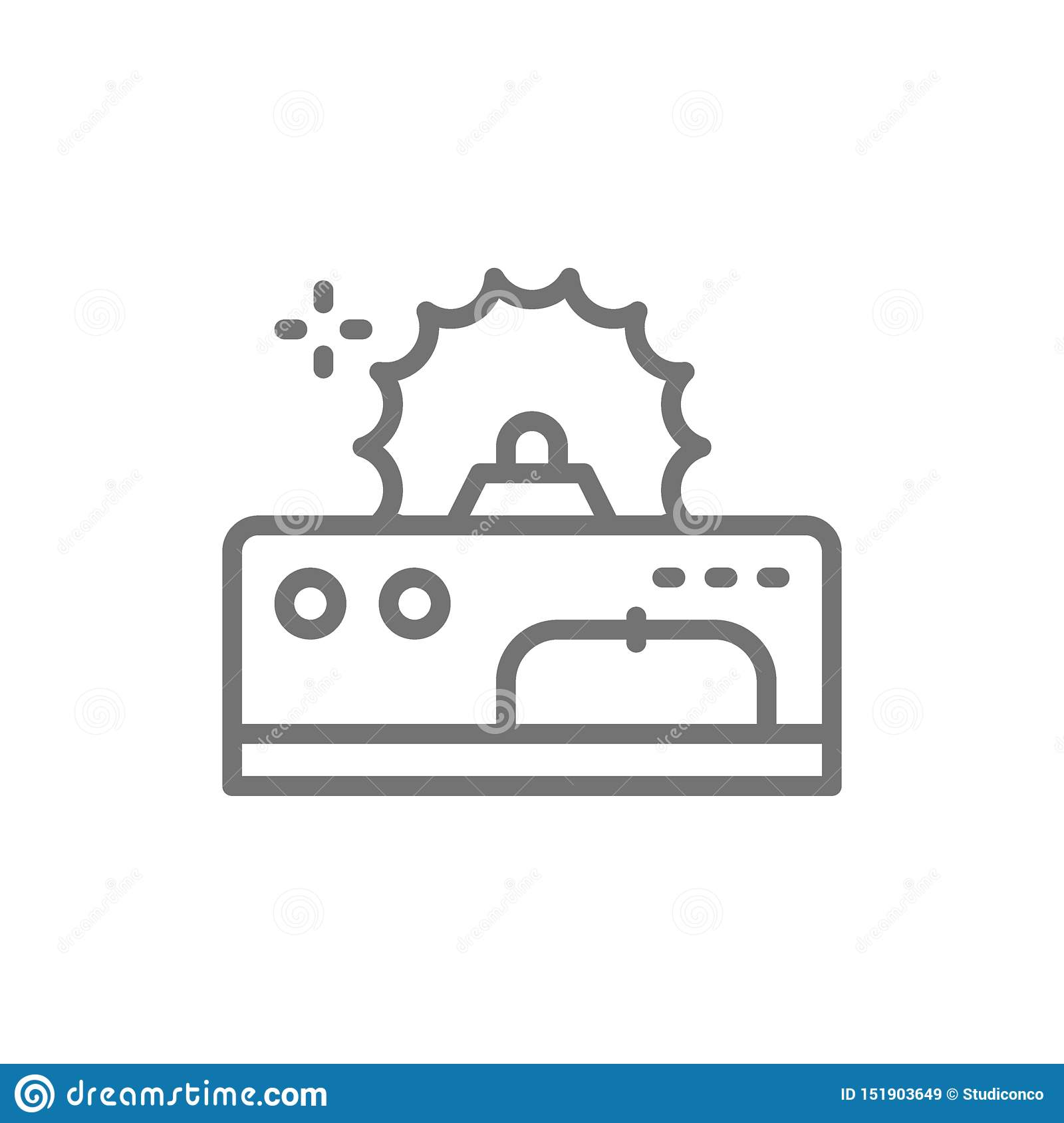 Metal Cutting Machine Electric Machine Tool For Wood Line Icon Stock Vector Illustration Of Element Electric 151903649