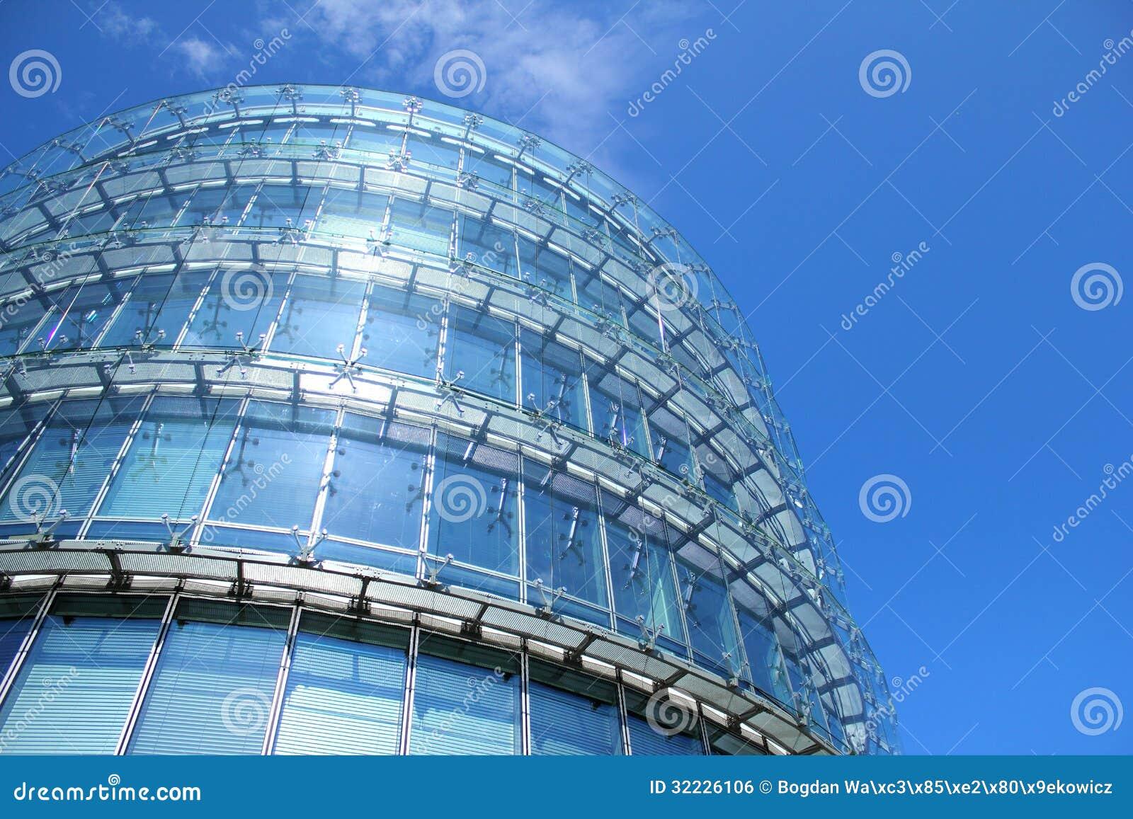 Download Metal De Vidro Do Nad Que Constrói Sobre O Céu Azul Foto de Stock - Imagem de construção, modernidade: 32226106