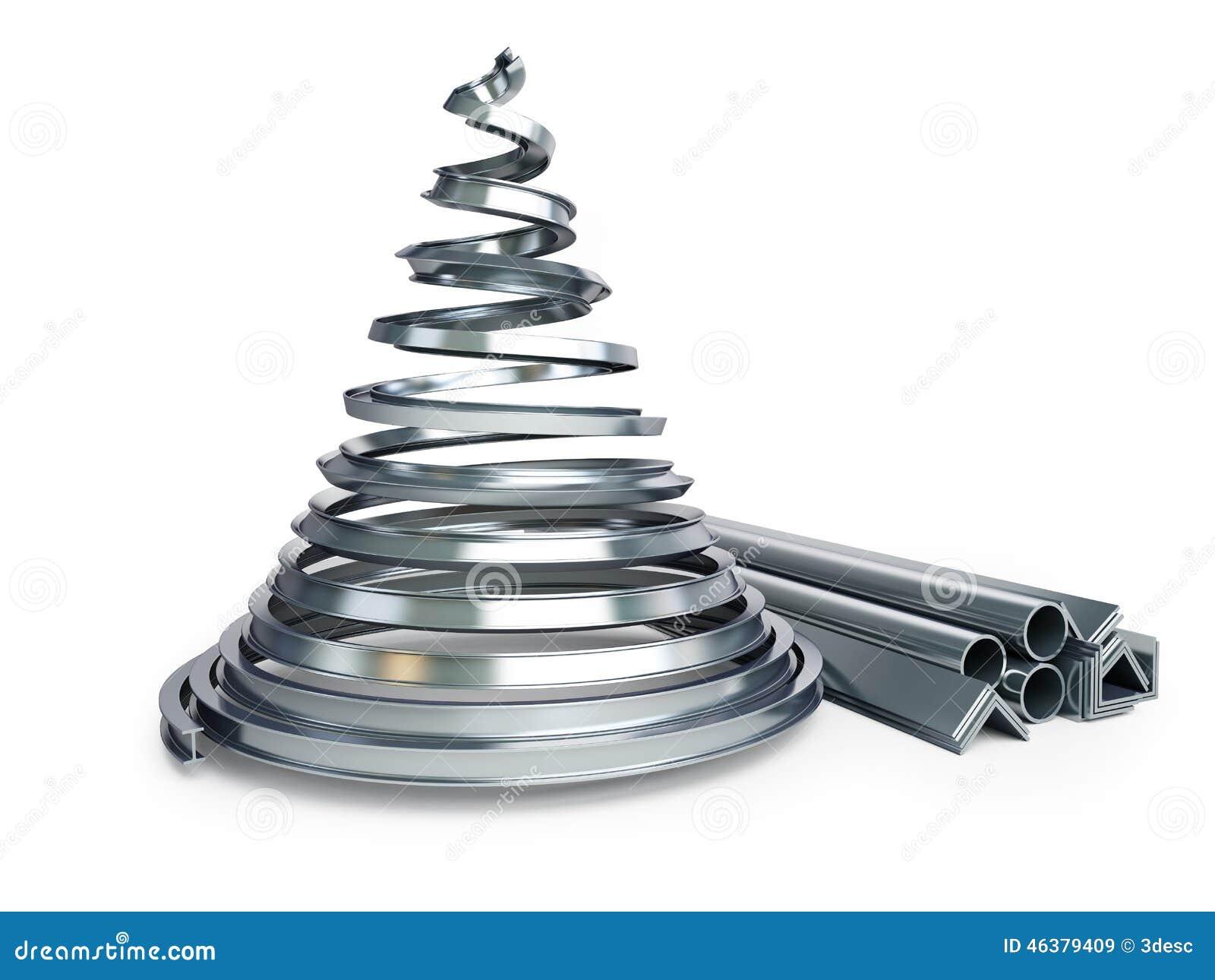 dbcc9954a9f Metal del árbol de navidad stock de ilustración. Ilustración de ...