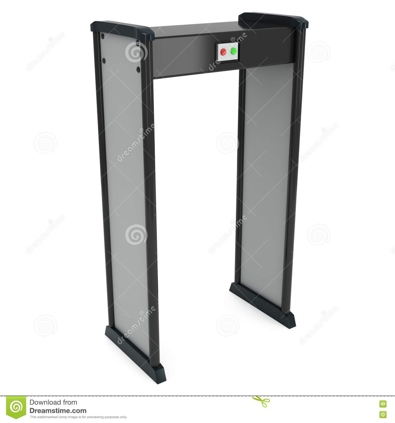 Metal Detector Scanner  3D Render Isolated On White  Stock