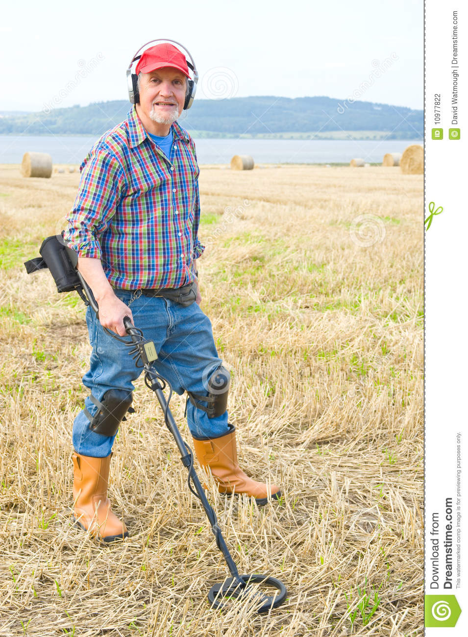 Jew Detector: Metal Detectorist Stock Photography