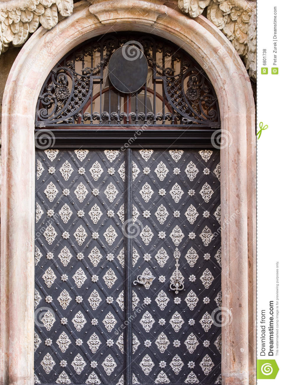 Metal door royalty free stock photos image 6801738 for Door z prague