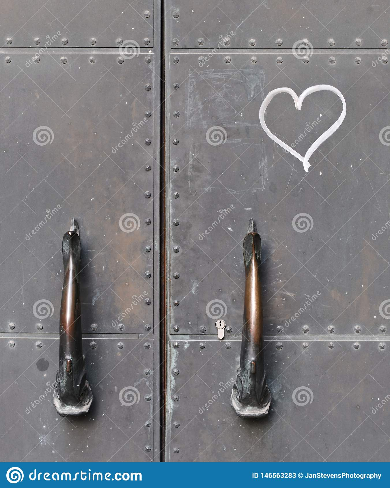 Door handles and a heart