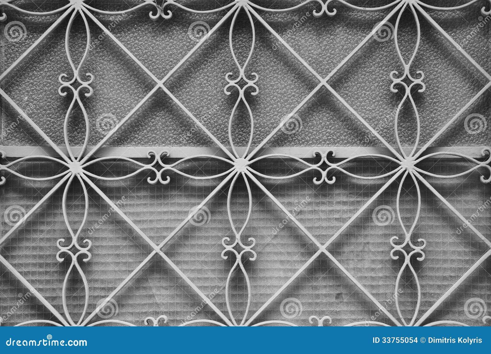 Metal Door Frame Floral Pattern Stock Photo Image Of Iron Closeup