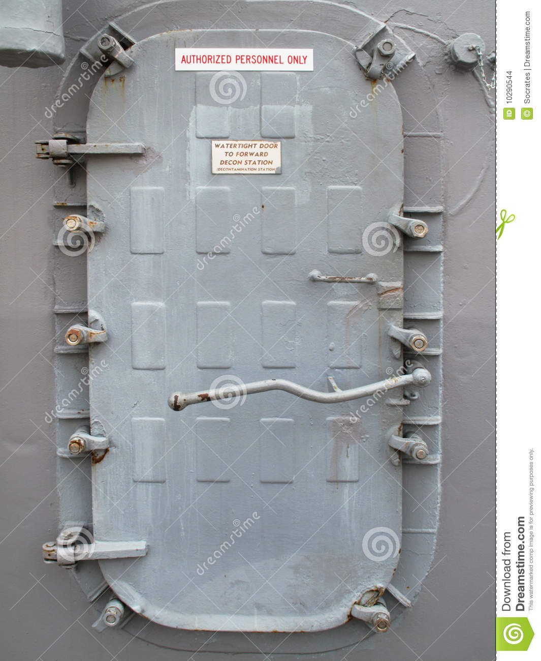 Metal Door Of A Warship Stock Photo Image Of Fight