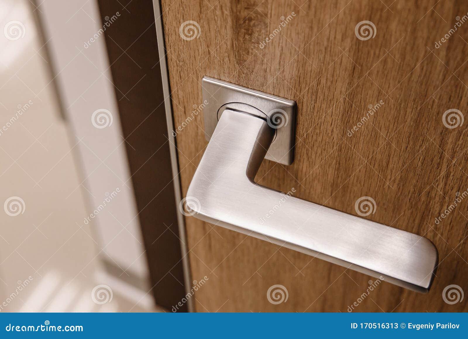 Metal Doors Knob Handle On Modern Interior Stock Image Image Of Keyhole Door 170516313