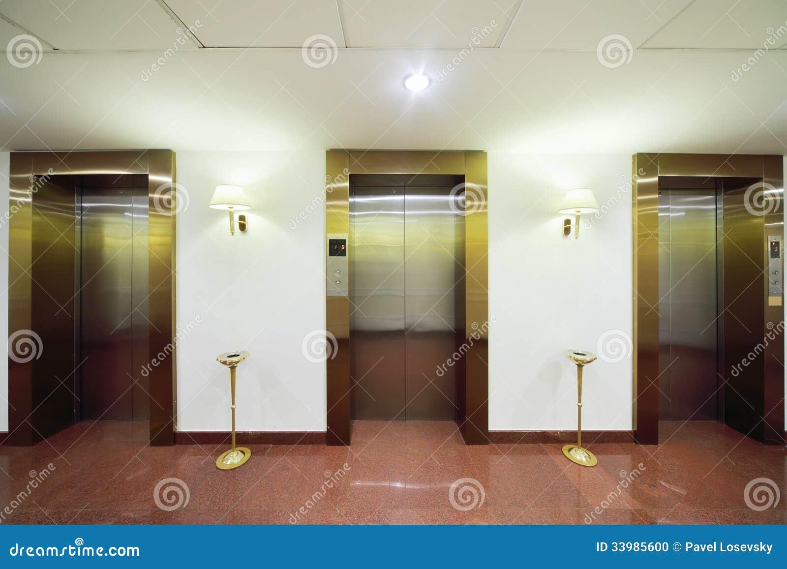 Download Metal doors to elevators stock illustration. Illustration of doorway - 33985600