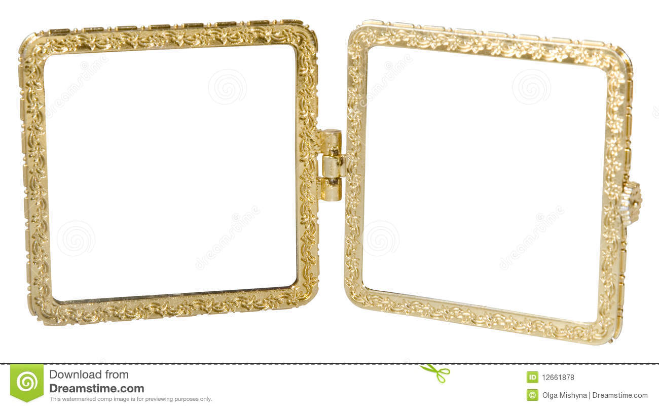 Metal Double-frame In Vintage Style Stock Photo - Image of metal ...