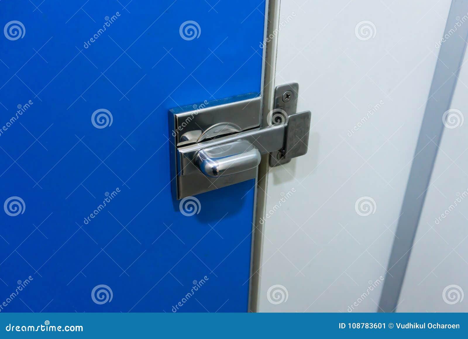 Metal el cierre de la cerradura para la cerradura la puerta del azul del retrete