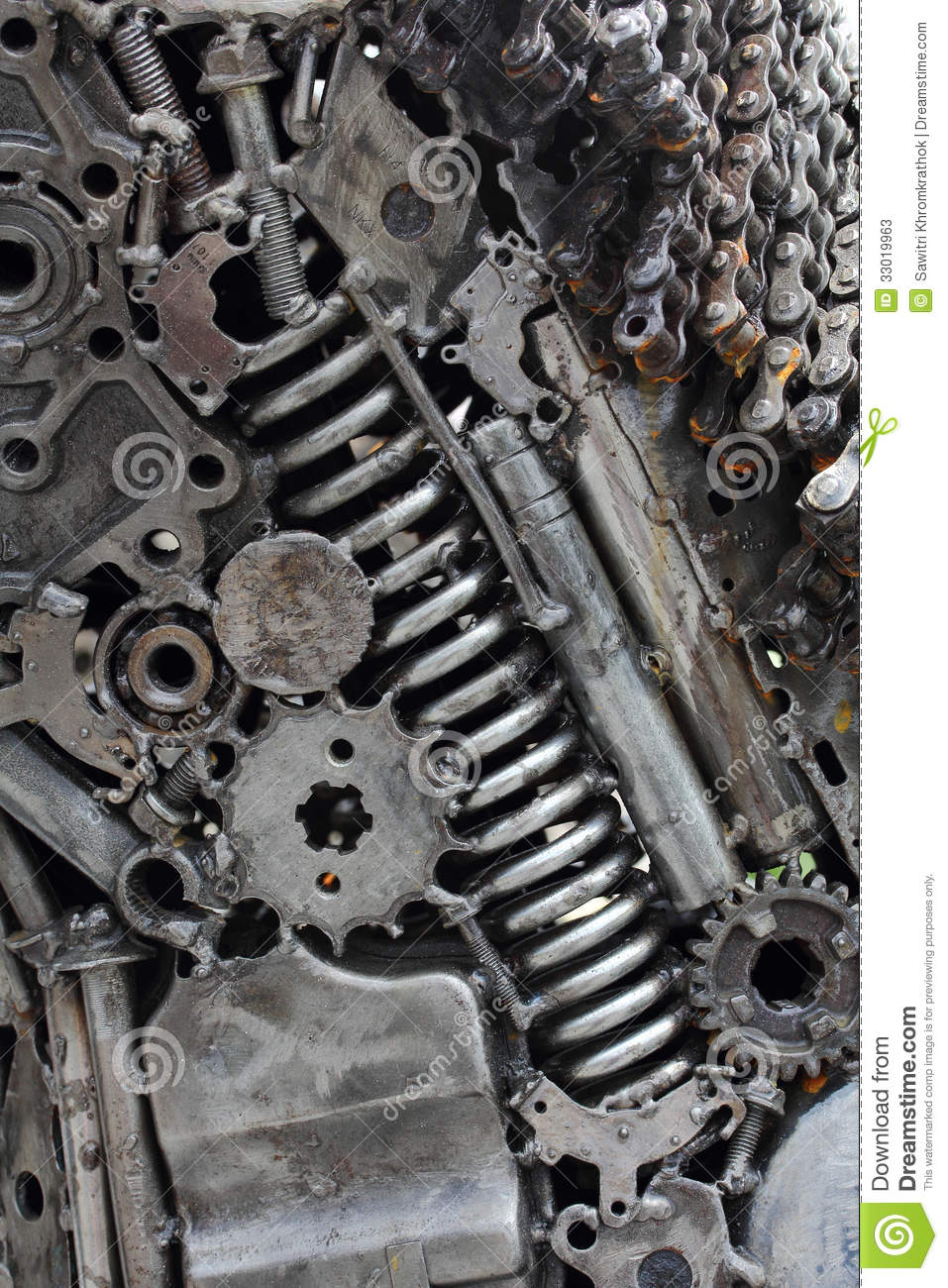 Metal Engine Gears Background Stock Photos Image 33019963