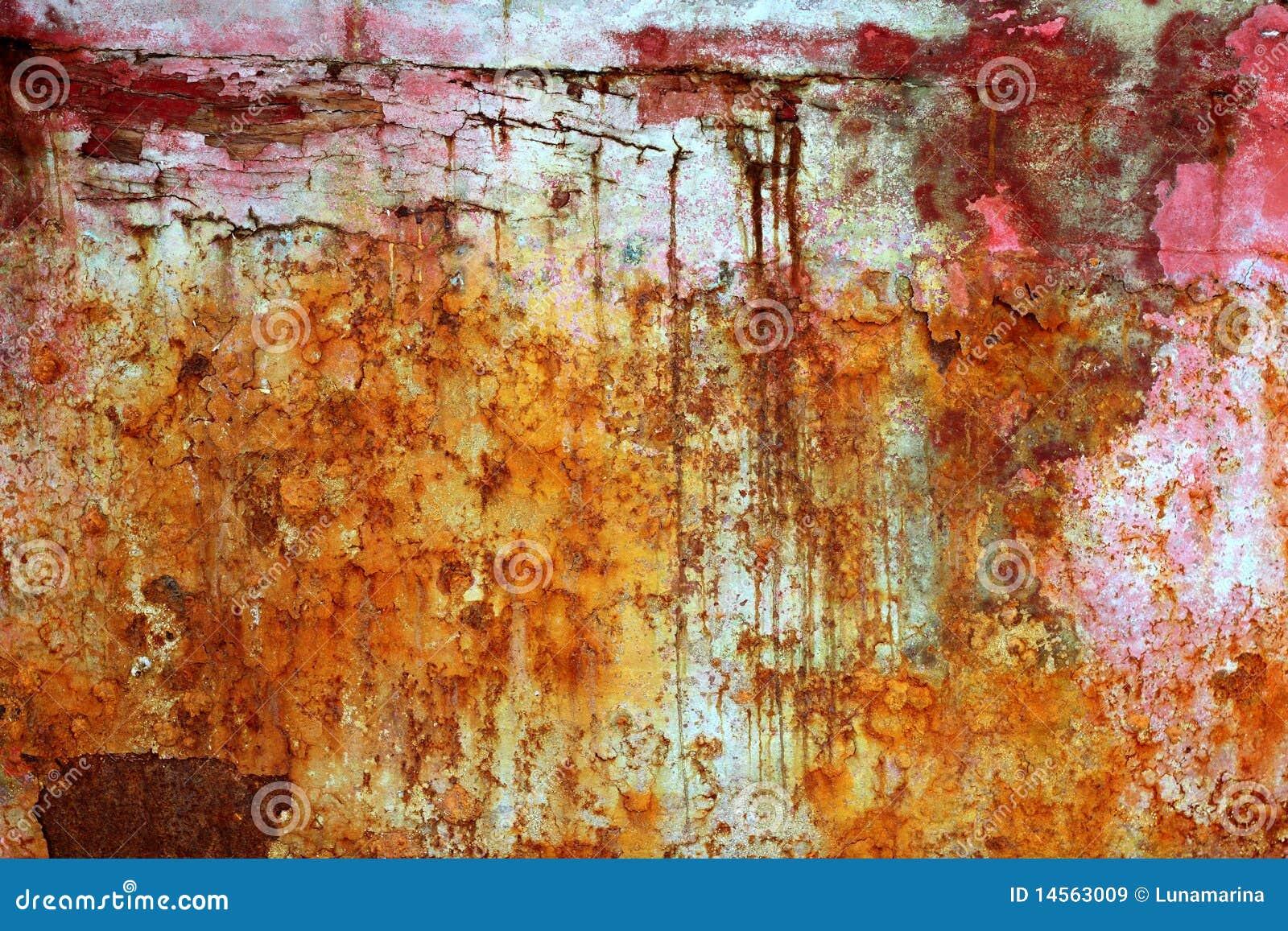 Metal envejecido hierro pintado resistido oxidado