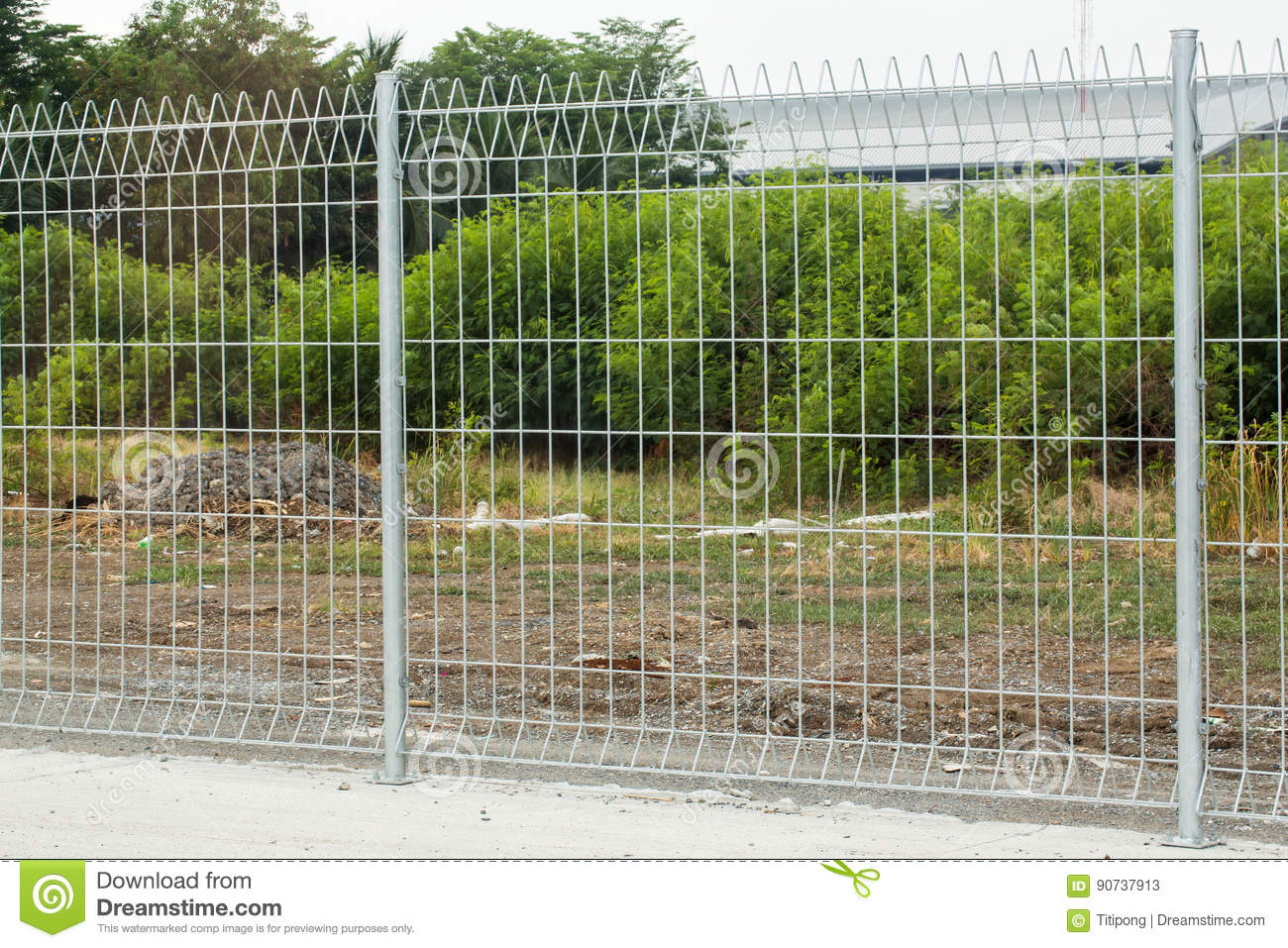 metal fence part of a metal grid fence stock image image of crime