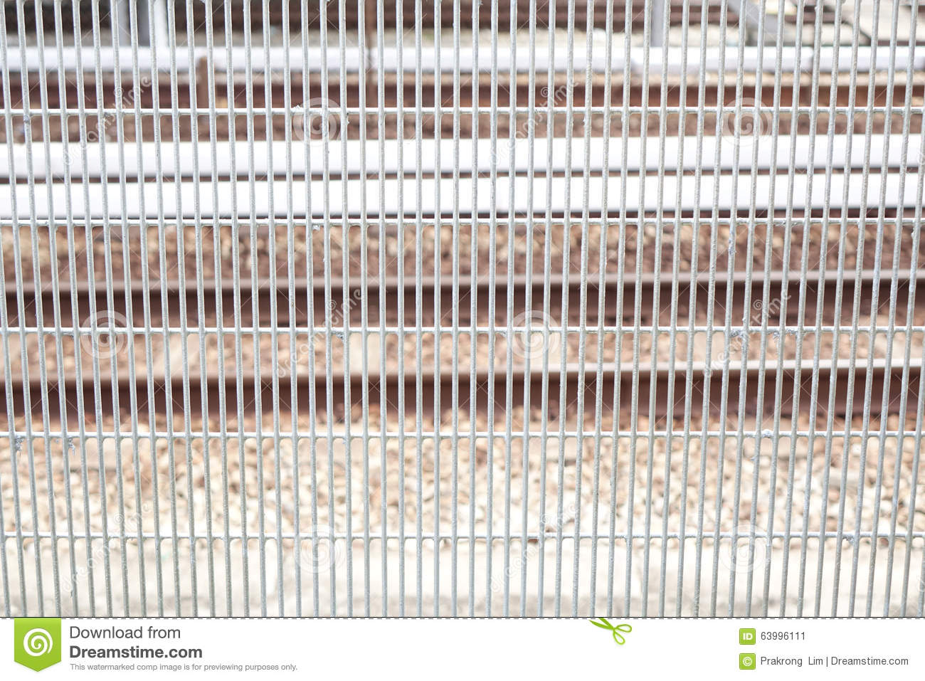 Metal Fence Of Train Station Stock Image - Image of rails, metal