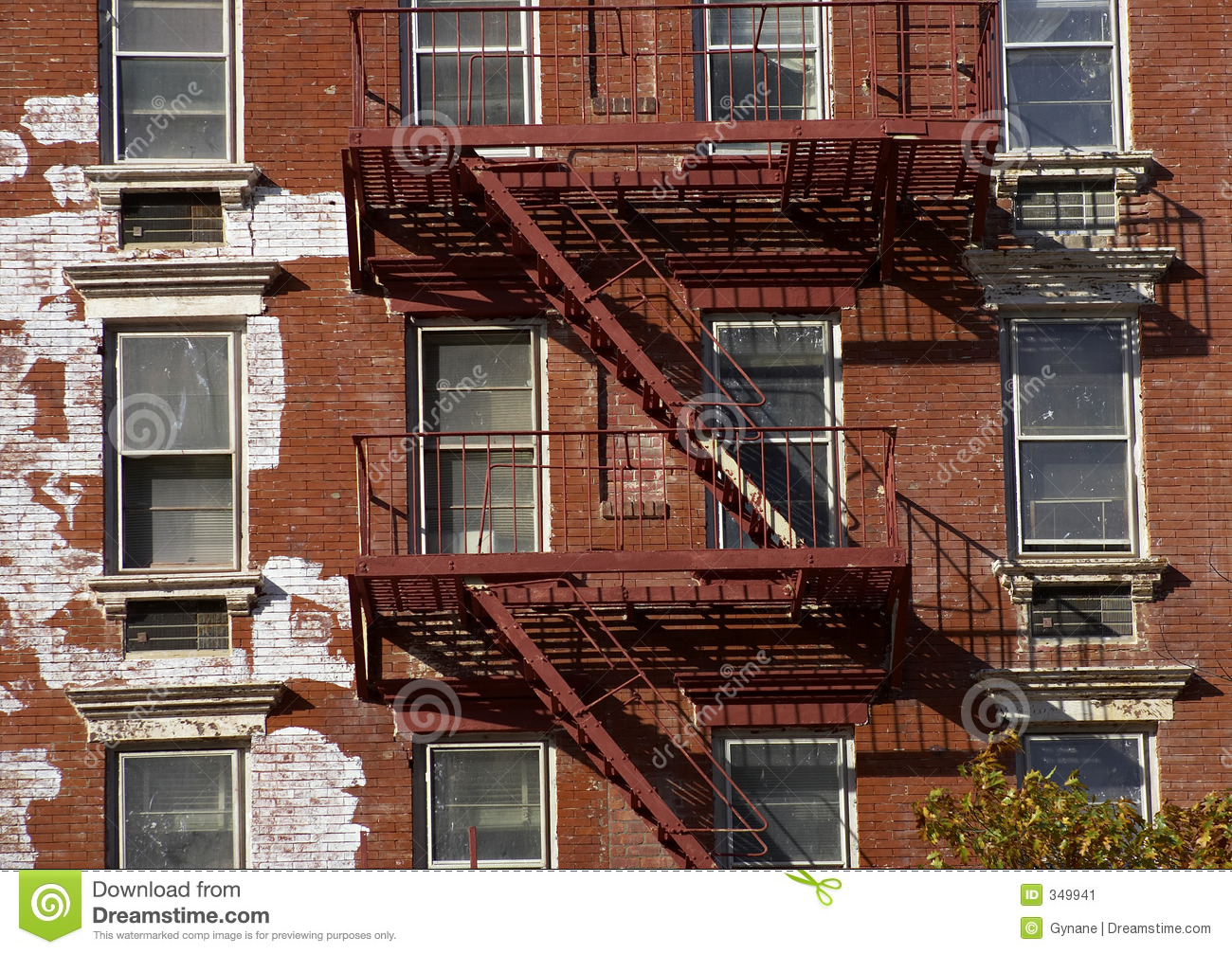 Metal Fire Escape Stock Image Image Of Emergency