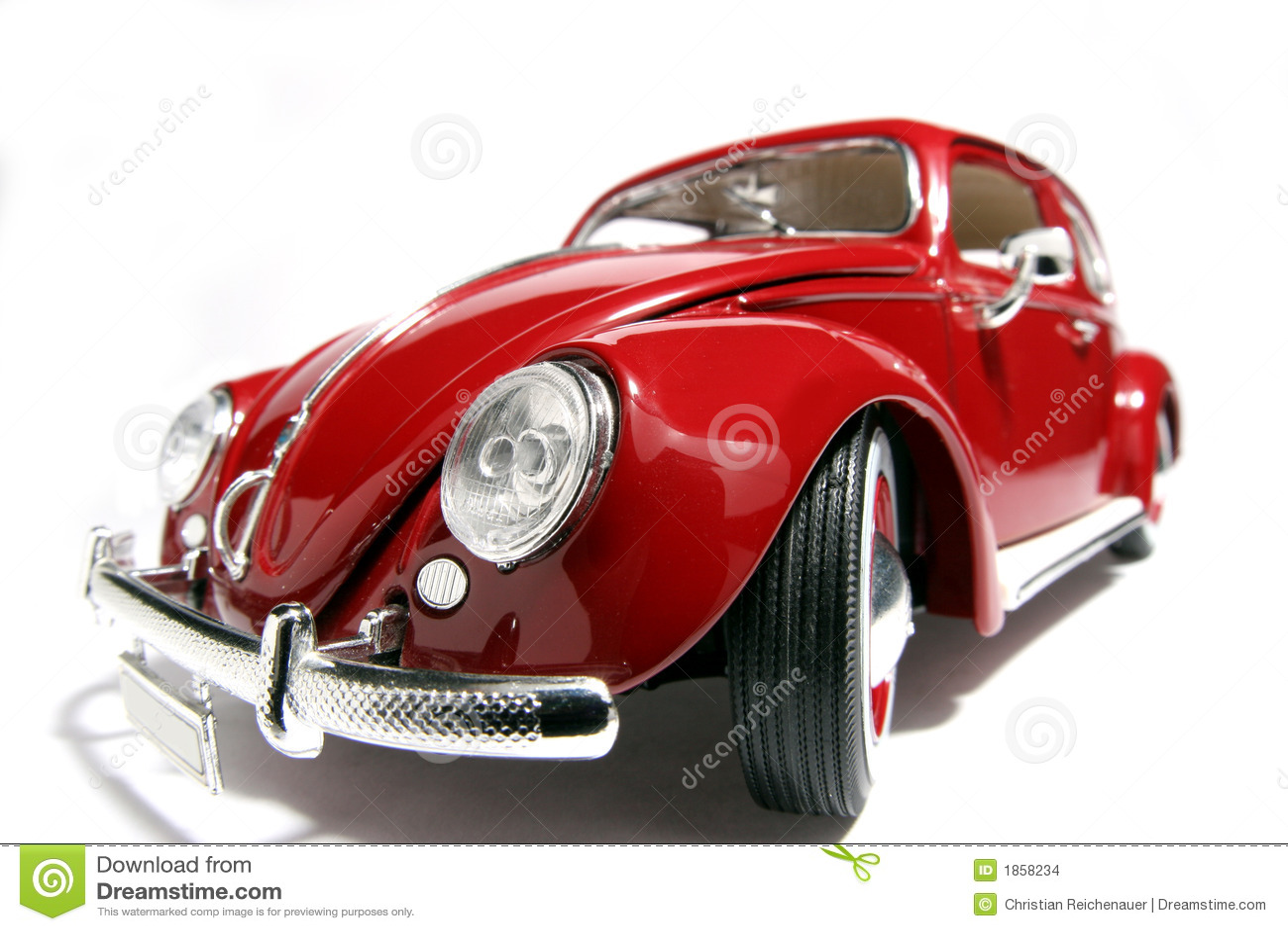 Metal fisheye 1955 de VW Beatle del modelo del juguete de la escala el viejo