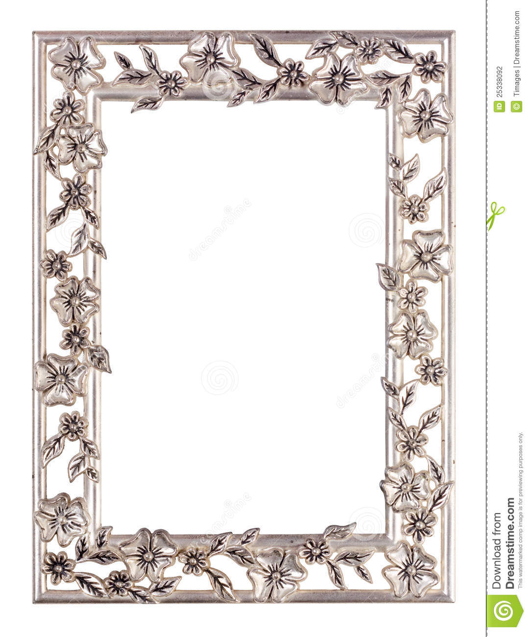Metal floral picture frame stock photo image of empty for Frame per foto