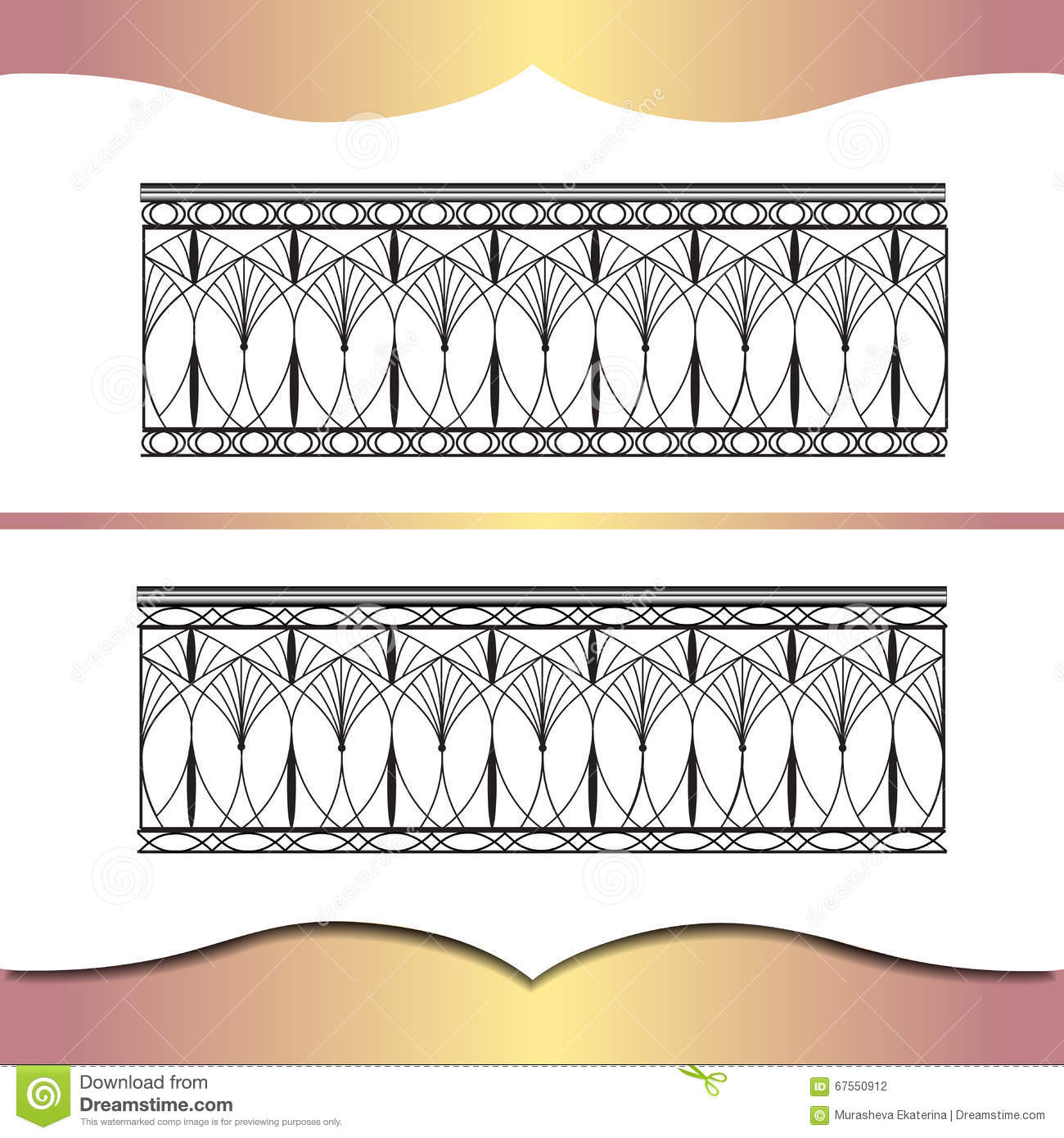 Metal forging stock vector image 67550912 for Exterior design elements