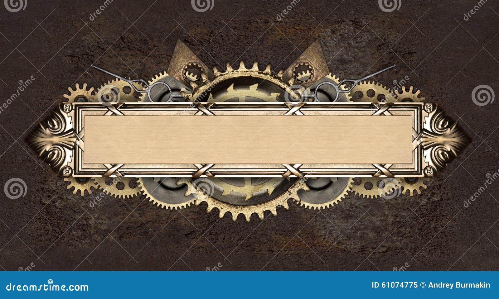 Metal Frame And Clockwork Details Stock Photo Image