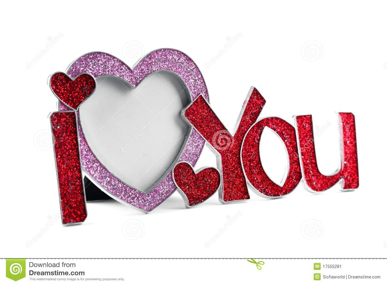 Metal Frame Shaped I Love You Stock Image Image Of