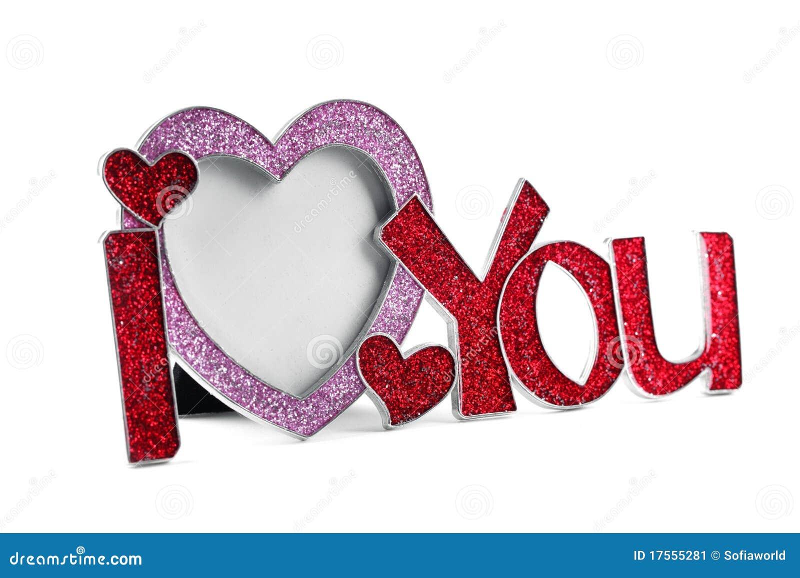 Metal Frame Shaped I Love You Stock Image Image 17555281