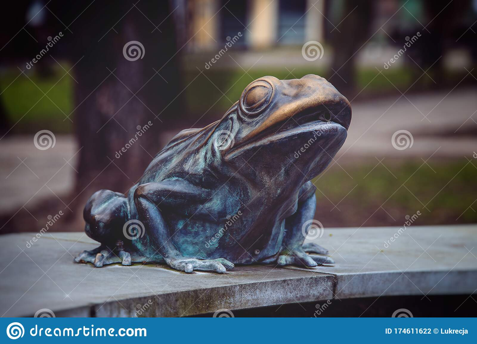 Metal Frog From The Fountain On The Market Square In Lębork Poland In Close Up Stock Photo Image Of Decoration Metal 174611622