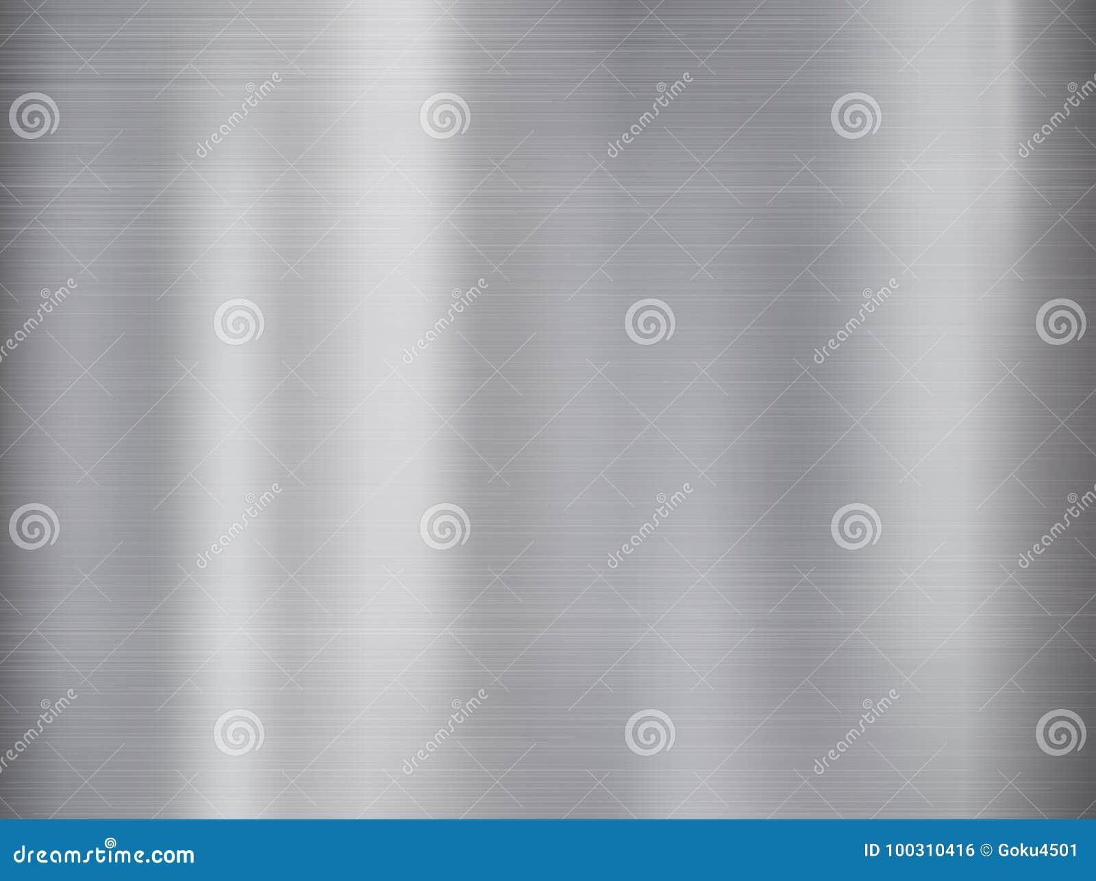 Metal, fundo de aço inoxidável da textura com reflexão