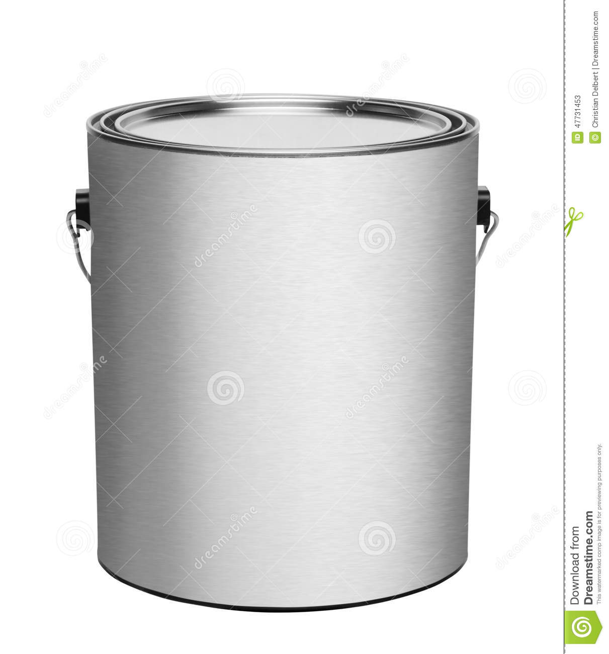 Metal gallon paint can isolated stock photo image 47731453 for 5 gallon bucket of paint price