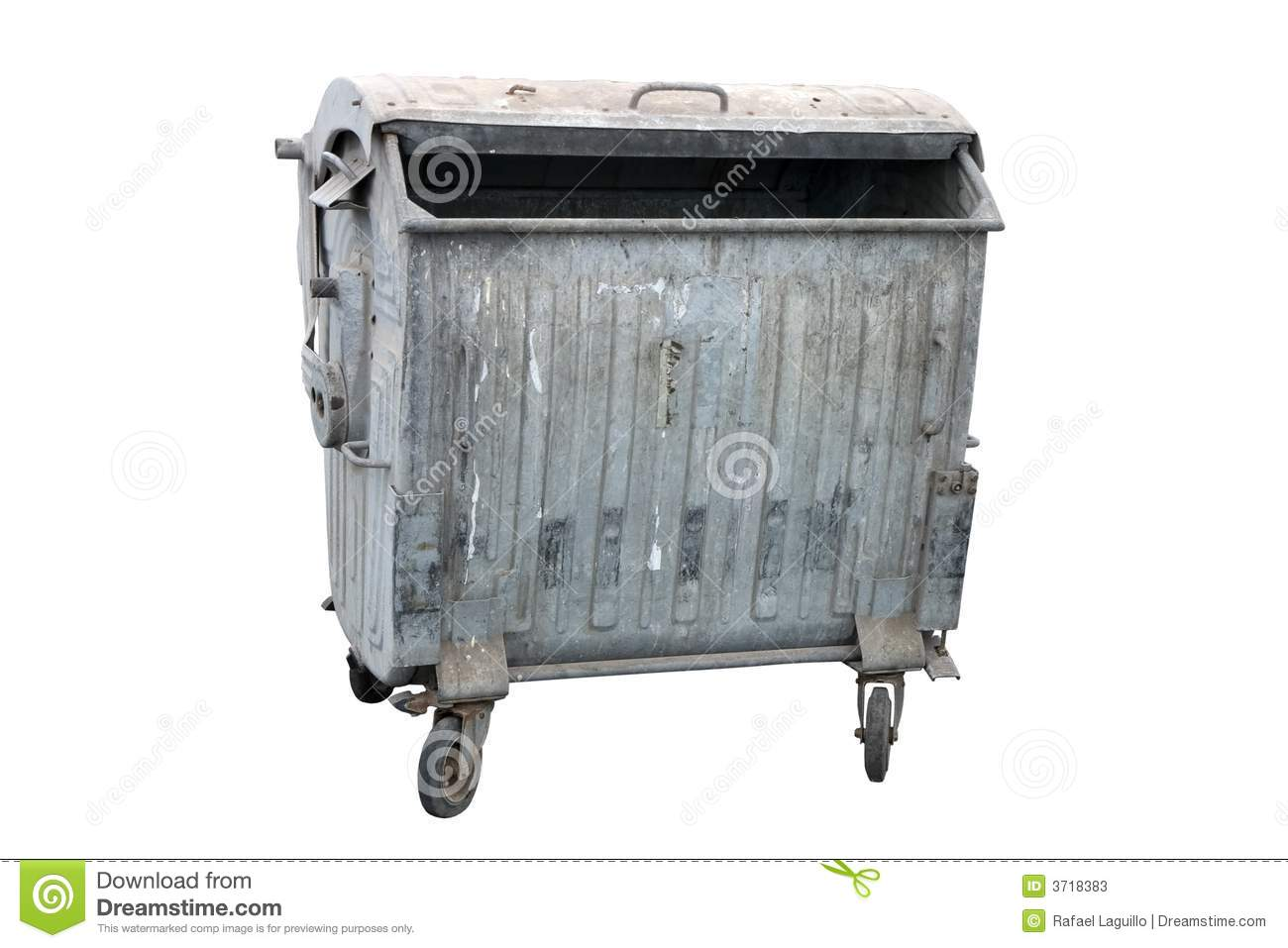 Metal Garbage Container Stock Photos Image 3718383