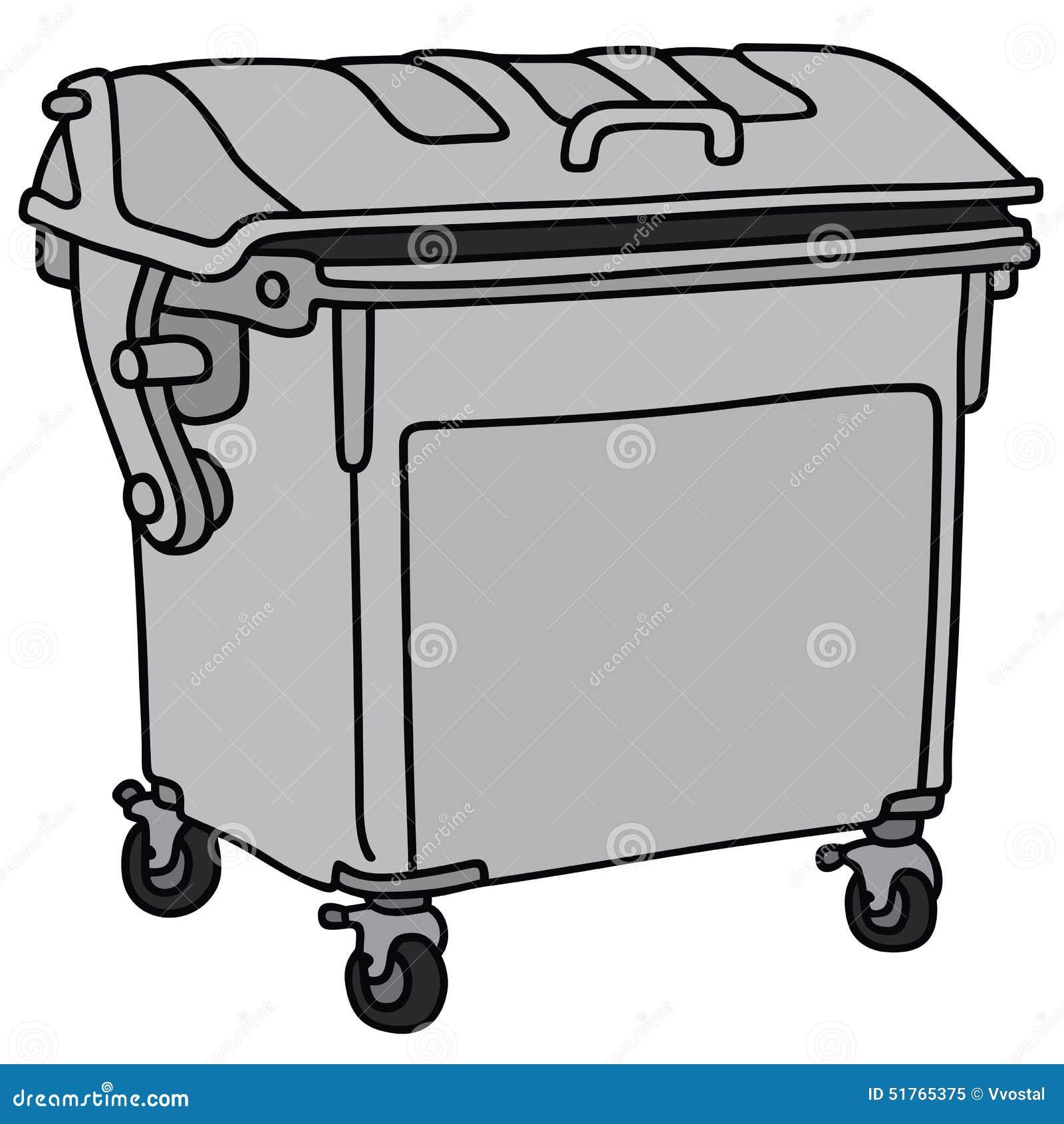 Metal garbage container stock vector image of gray waste 51765375 - Dessin de poubelle ...
