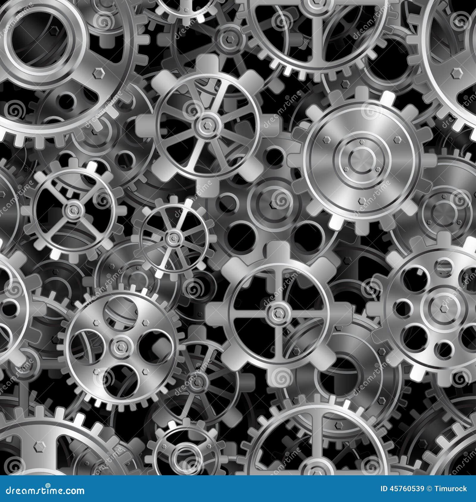 Metal Gears Pattern Stock Vector Image 45760539