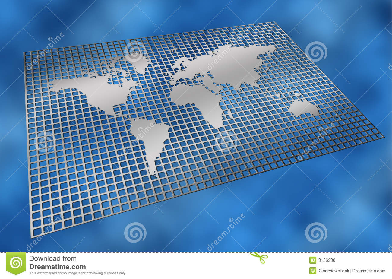 Metal grid world map stock illustration illustration of mesh 3156330 metal grid world map gumiabroncs Image collections