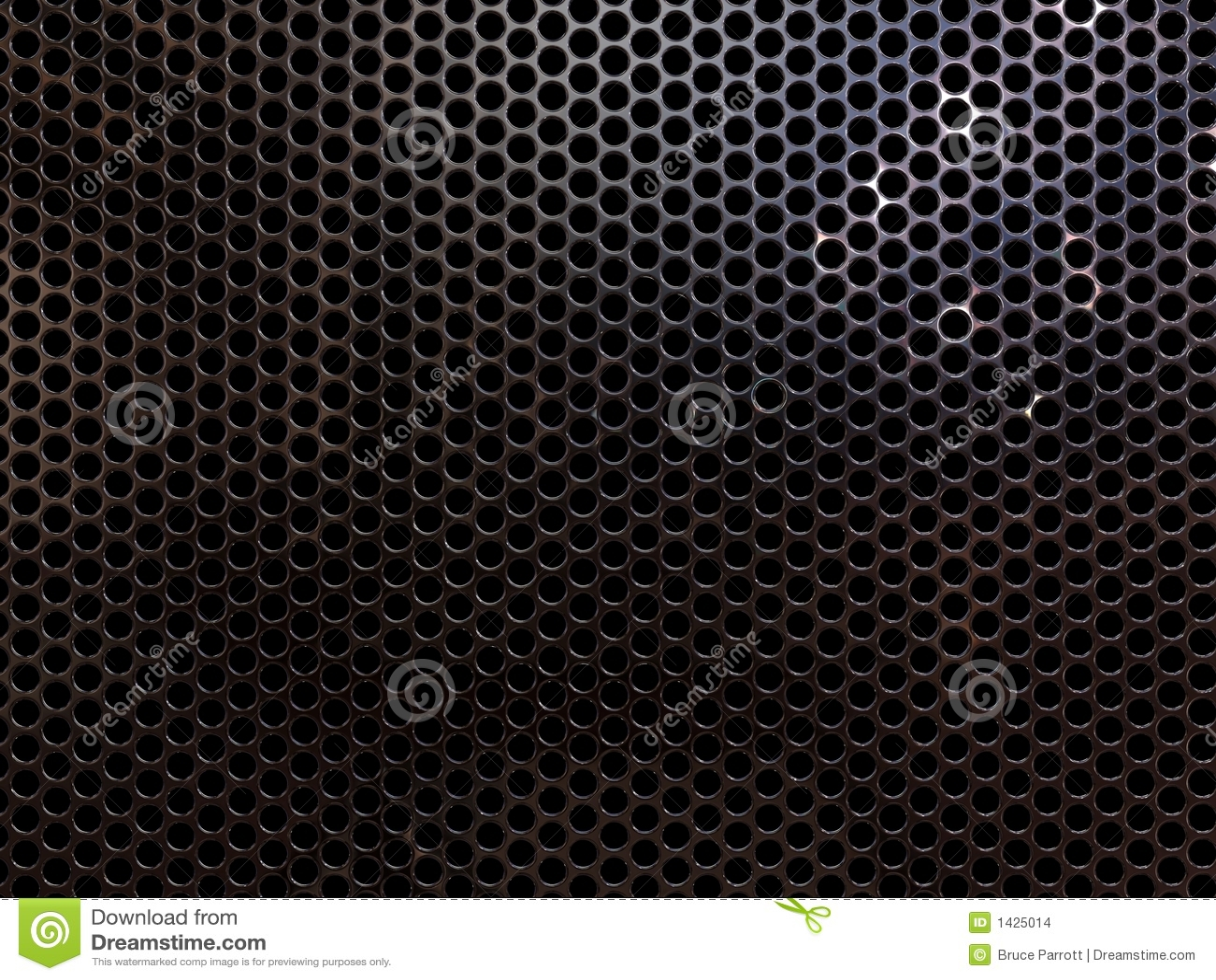 Download Metal grill stock illustration. Illustration of grid, speaker - 1425014