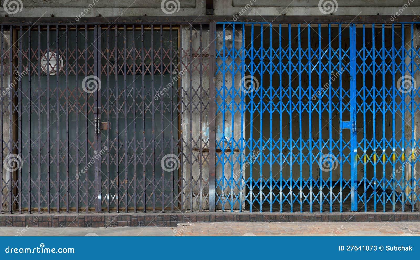 Metal Grille Sliding Door