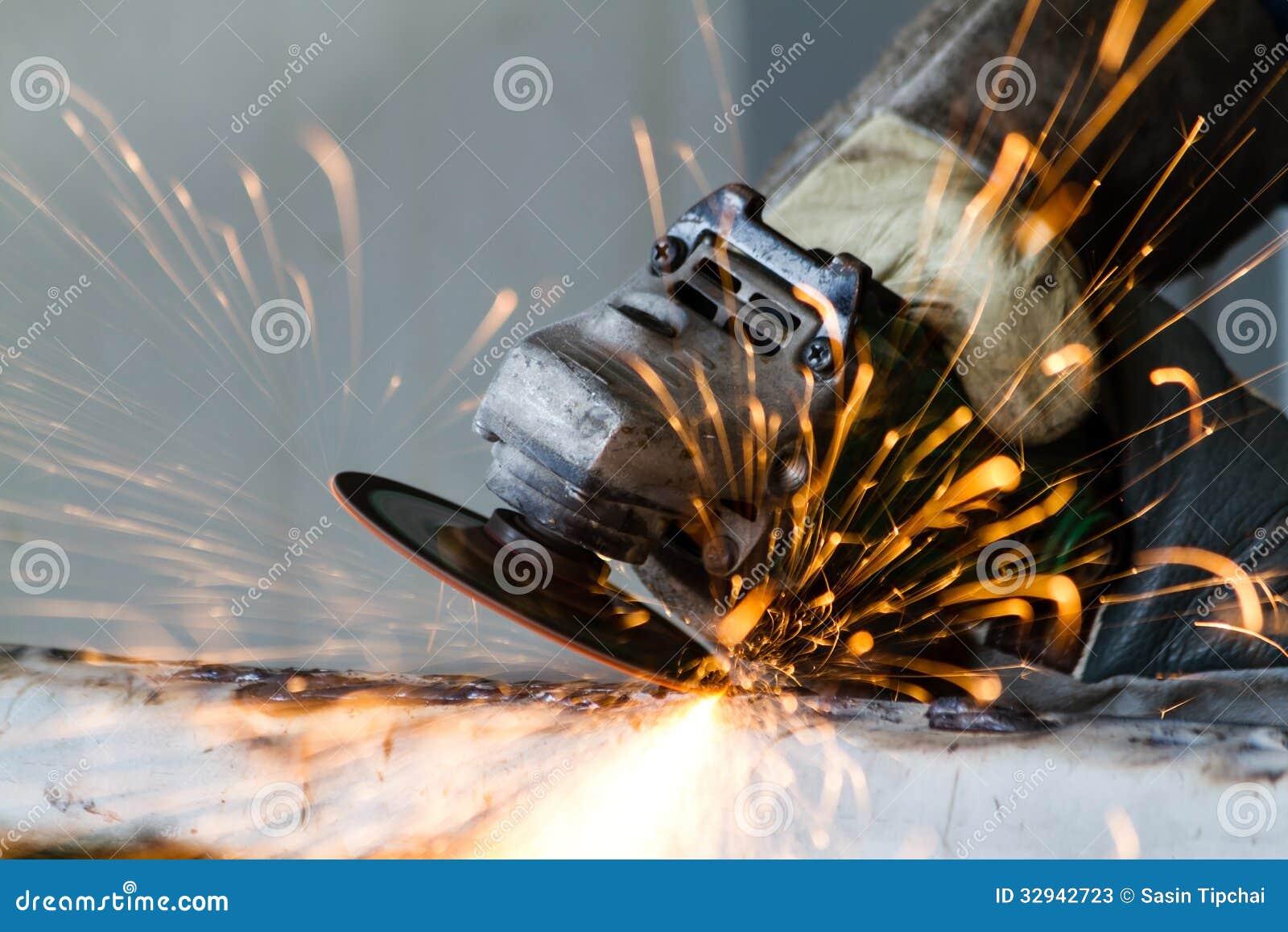 Metal grinding stock photos image