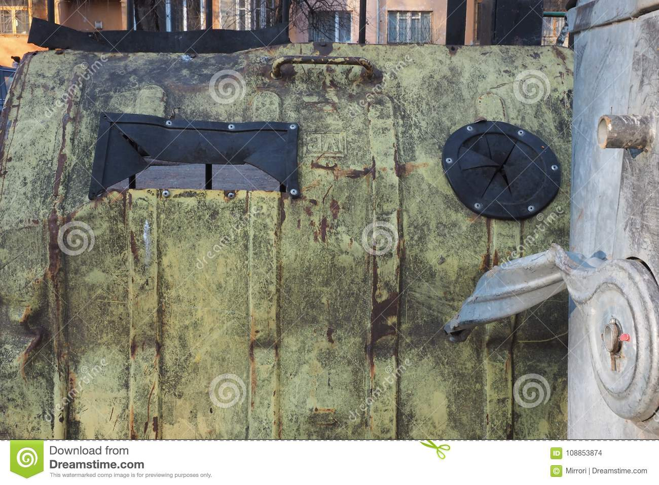 Metal Grunge Background With Greenish Color With Black