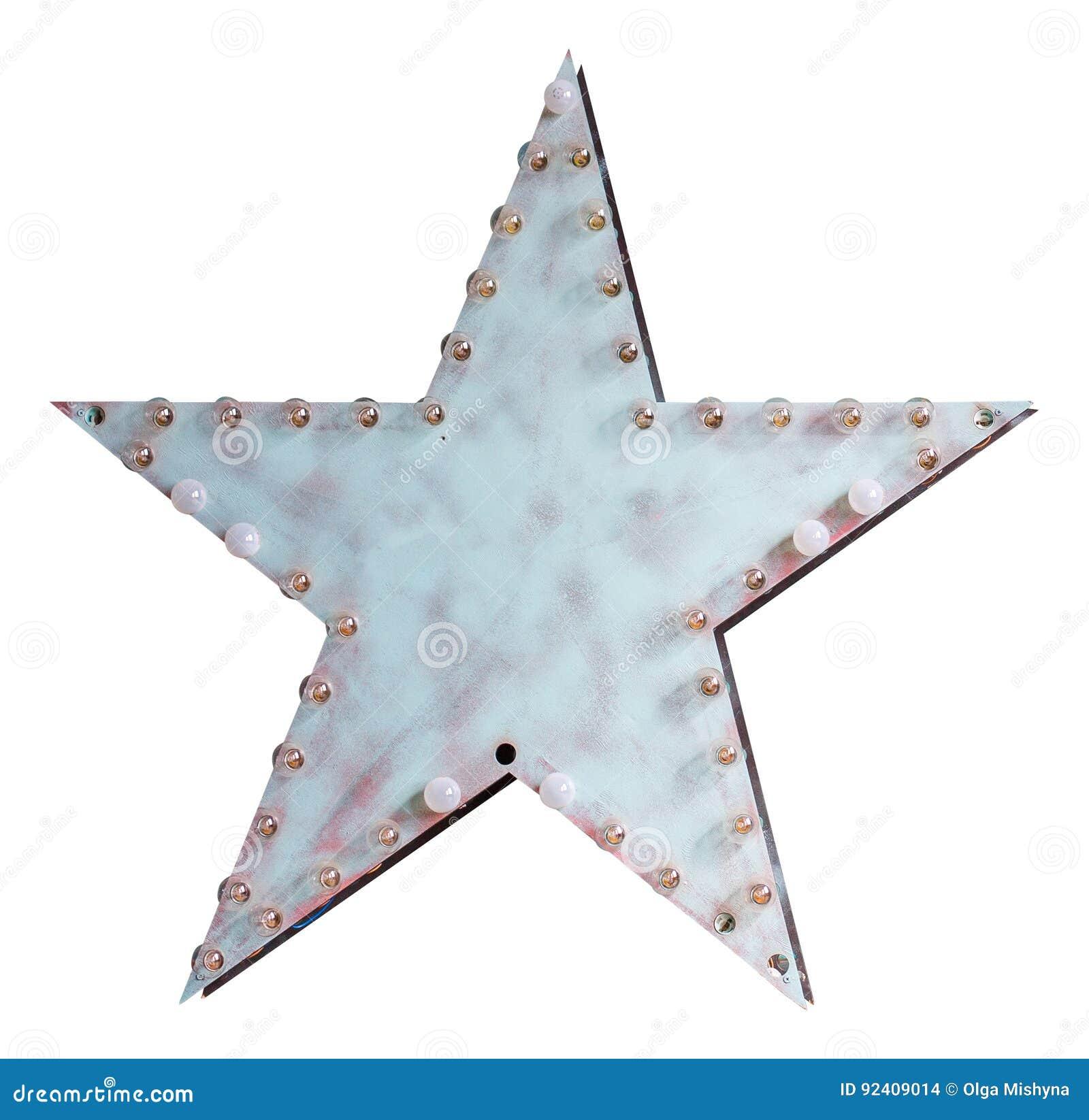 Metal gwiazda z lampami