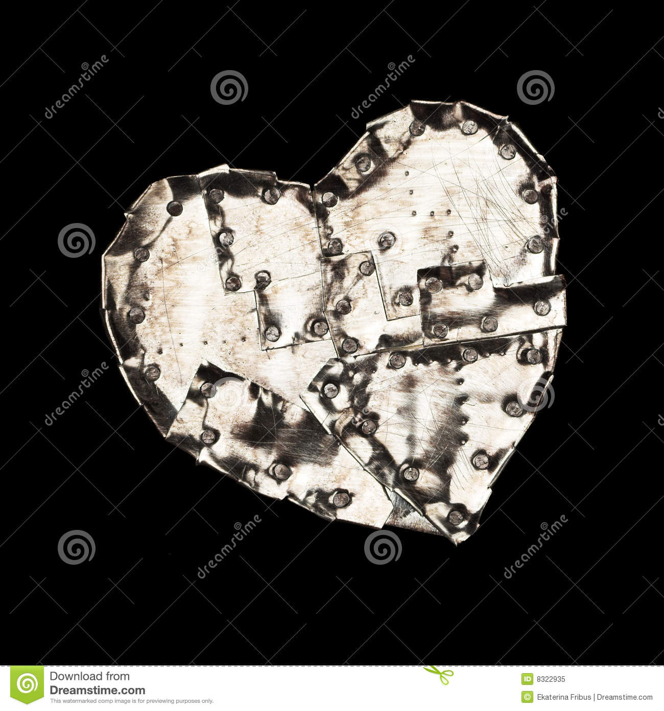 Download Metal heart stock image. Image of rust, pain, objects - 8322935