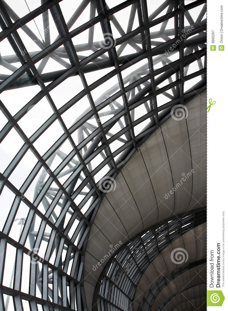 Royalty Free Stock Photography: Metal indoor ceiling