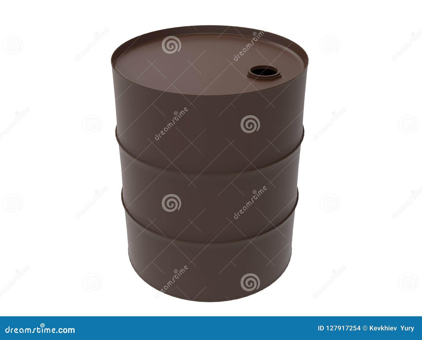 Metal Industrial Oil Barrel 3D rendering
